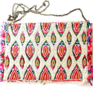 sommer clutch -multi perle